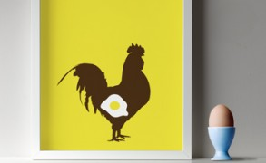 Fried egg print – Dagens poster