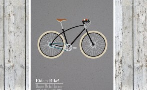 Ride a Bike – Dagens Poster (Vi hylder Tour de France)