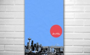 City art Skyline Seattle – Dagens poster