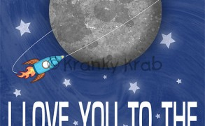 I Love You to the Moon and Back – Dagens Poster (børneværelset)