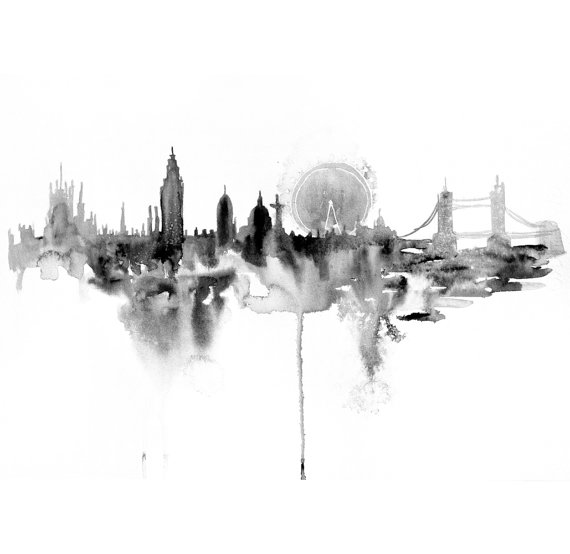 London City abstrakt – Dagens Poster