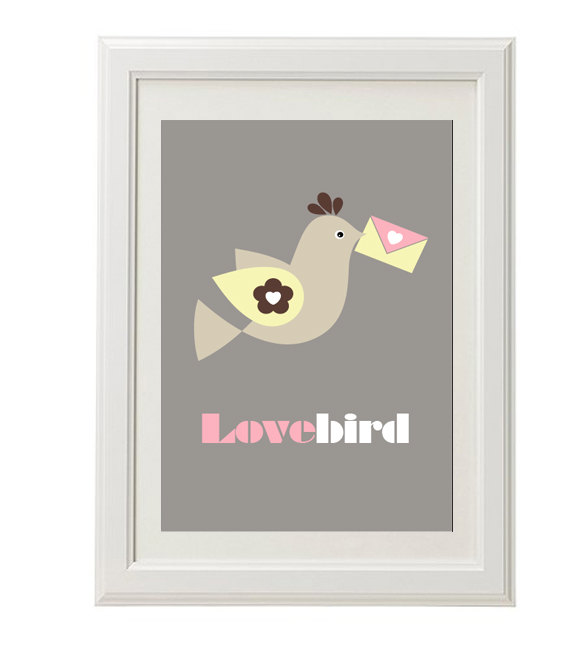 Lovebird love message – Dagens Poster
