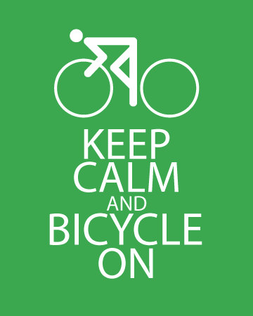 Keep Calm and Bicycle On – Dagens Poster