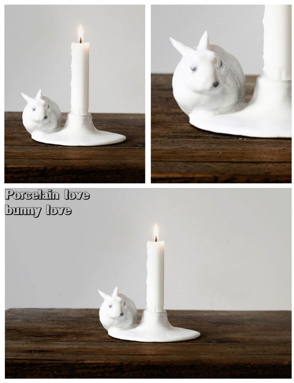 porcelain-porcelaen-indretning-interior-lysestage-bunny-kanin