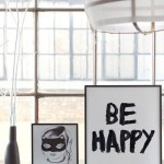 "Bat girl print by Bodie and Fou. Artprint ""Be Happy"" also by Bodie and Fou"