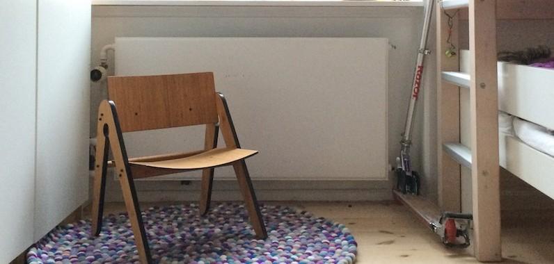 Ruggit kugletæppe designet af boligcious Maria Fynsk Norup