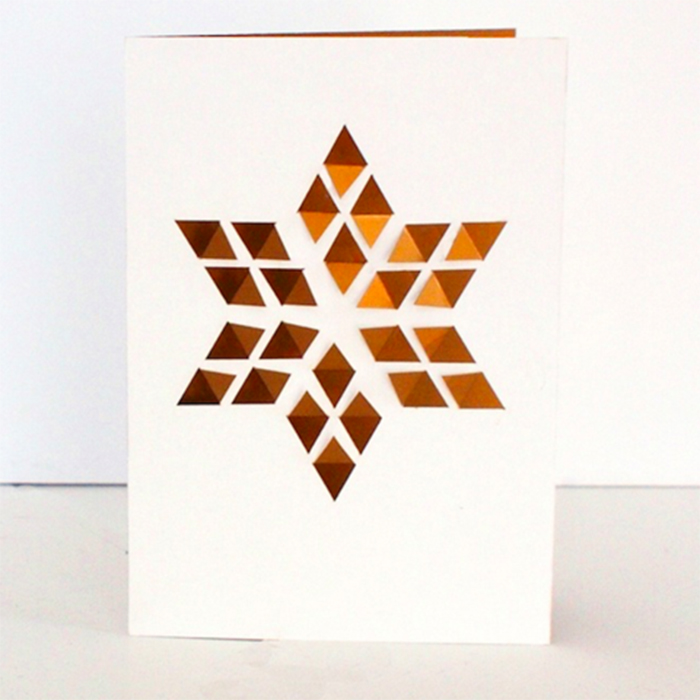Julekort - Cut & Make Fold Out Star Card