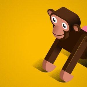 monkey_4_print-illustration-kunst-kunstvc3a6rk-grafisk-billed-ramme-vc3a6gdekoration-bc3b8rnevc3a6relset-indretning-boligindretn