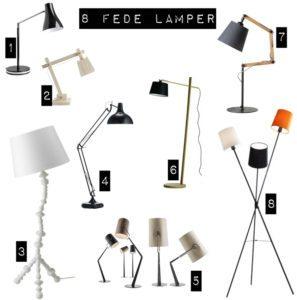 En håndfuld flotte lamper