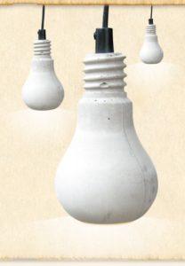 Cement lampe