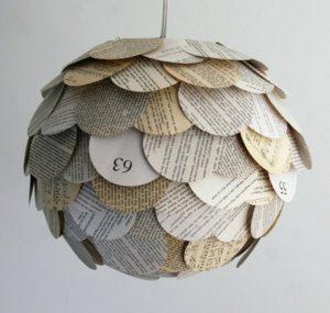 Flot lampe af avispapir