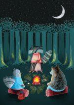 Woodland friends – dagens plakat går til børnene
