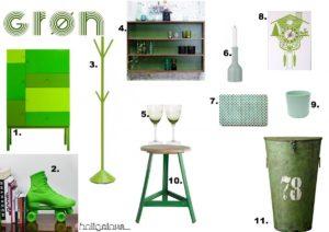 Grønt interiør