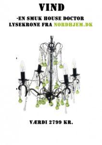 VIND en lysekrone fra House Doctor sponsoreret af Nordhjem.dk