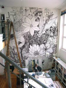 Jo, du må gerne tegne på væggene!