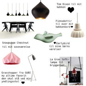 Boligcious dagdrømmer om lamper♥