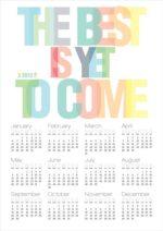 Flot grafisk kalender – Dagens Poster