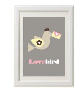 Lovebird love message – Dagens Poster