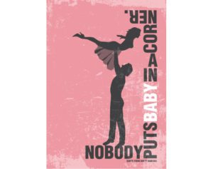 poster-print-plakat-grafisk-illustration-graphic-design-dirty-dancing-movie