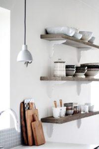 Køkken-indretning: åbne hylder