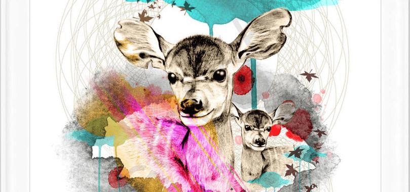 deer-poster-plakat-kunst-illustration-grafisk-design