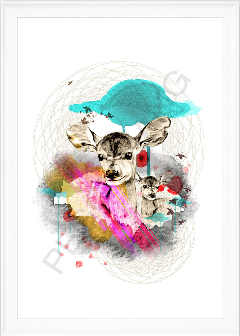 deer-poster-plakat-kunst-illustration-grafisk-design