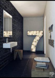 Sorte badeværelser…mums!