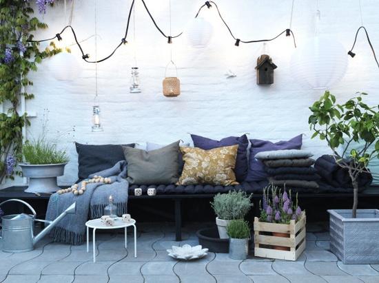 haven-indretning-terrasse-lyskaede-baenk-havemoebler ...