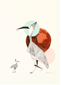 poster-bird-plakat-rebekka-camilla-interior-indretning-art-kunst-illustration