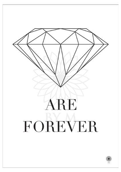 poster-plakat-diamonds-forever-print-illustration