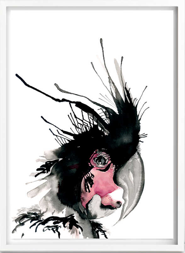 louiseovergaard-poster-plakat-print-kunst-art-fugl-papgoje-kanariefugl-bird