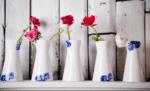 Porcelæn med blå blomster