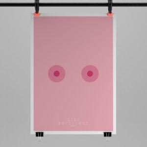 Støt Brysterne med en KLAM plakat – Dagens Poster