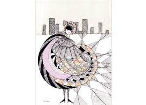 girl-in-the-city-mette-hoersted-kusnt-print-illustration-art-poster-plakat