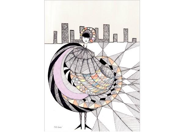 girl-in-the-city-mette-hoersted-kusnt-print-illustration-art-poster-plakat