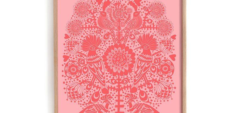 lisa-grue-birds-in-a-tree-art-kunst-illustration-poster-print-plakat