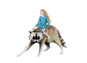 Girl Riding Racoon – Dagens Poster
