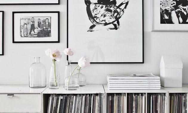 indretning-sort-hvid-bolig-kunst-billedvaeg