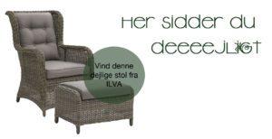 Vil du sidde her…..Vind en skøn stol til haven, terrassen eller altanen!