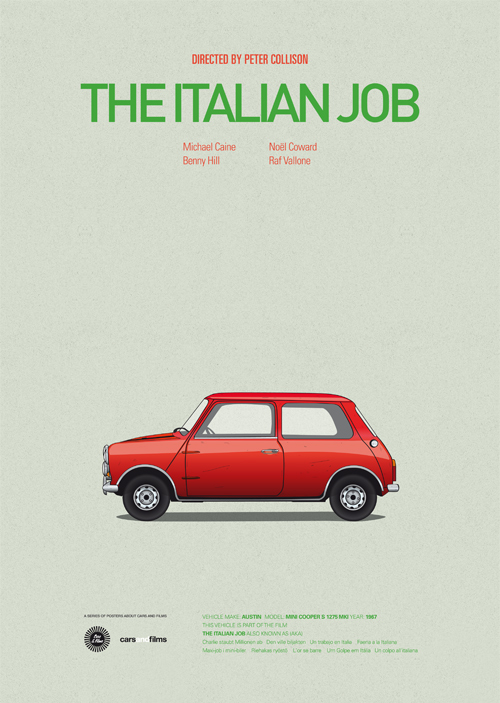 cars-and-films-illustrations-by-jesus-prudencio-10-the-italian-job-movie-poster