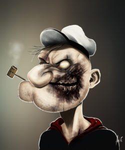 zombie-popeye-skipperskraek-print-art-poster