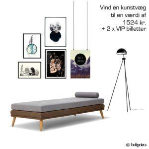 VIND en kunstvæg og 2 VIP billetter til FindersKeepers i Århus