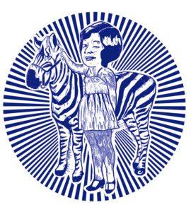 REBEL PICK MONDAY: Zebra Girl In Blue Circle