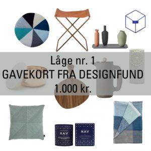 Låge Nr. 1 – Vind et Gavekort til Designfund.dk på 1.000 kr.