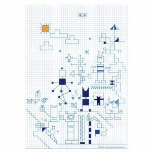 Robot Square Sheet – Dagens Poster
