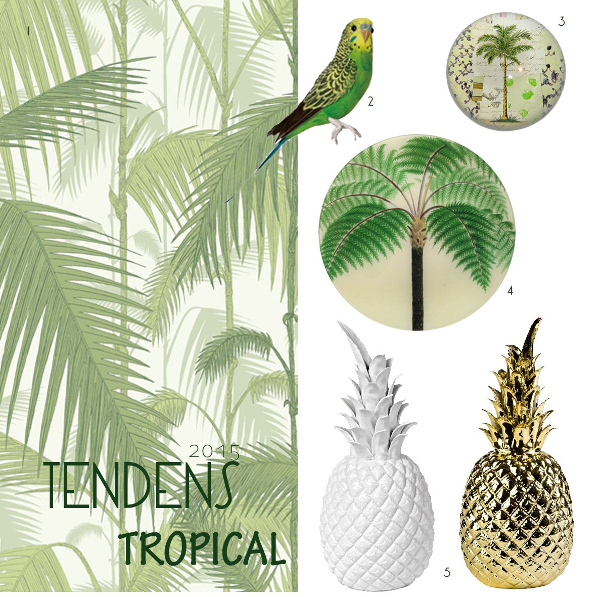 tropical-ananas-tapet-forgyldt-interior-indretning