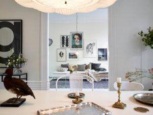 På besøg i et smukt hjem i Sverige