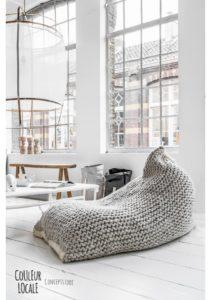 Vamsede strikkede Bean Bags
