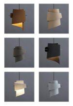 Lampen der er en asymmetrisk hængende skulptur