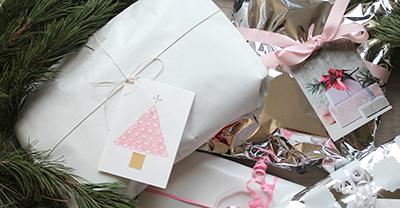Lav dit eget julekort eller gaveetikette